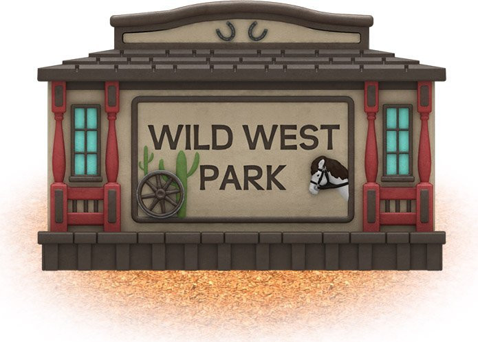 UPC Parks - Wild West Sign