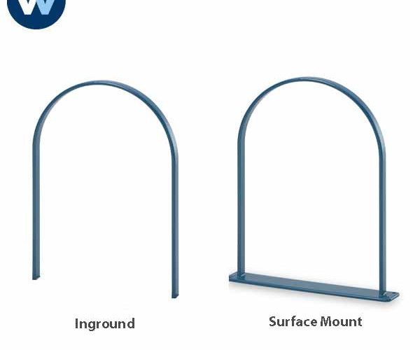 Wabash Bike Loop, Plasticol-Coated Bike Rack