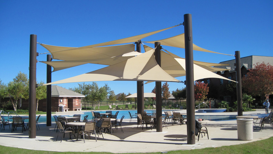 USA Shade 3-Point Shade Sail