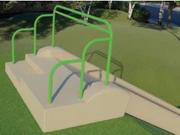 UPC Parks Embankment Slide with ADA Transfer Platform