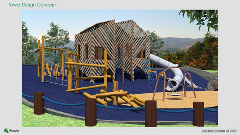 MREC Custom School Age Playground