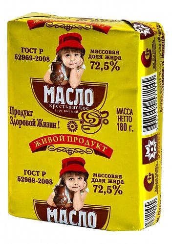 """Масло сливочное ГОСТ, 180 грамм """"Анжерское молоко"""""""