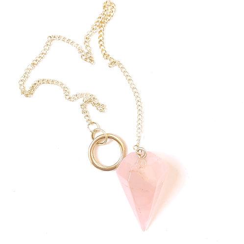 Pendulum Rose Quartz