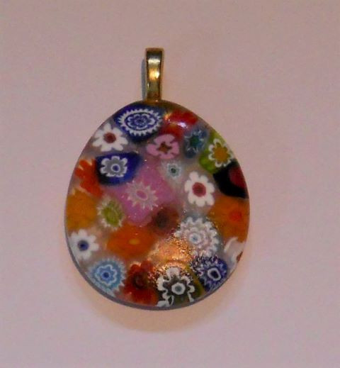 Item #019 Fused glass pendant