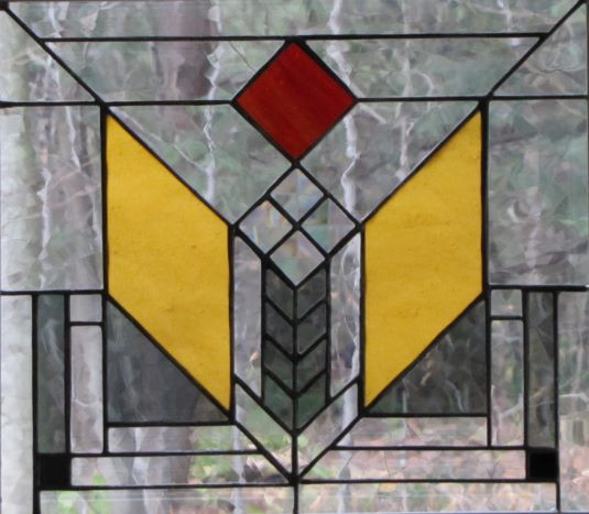 Item #010 Stained glass window panel