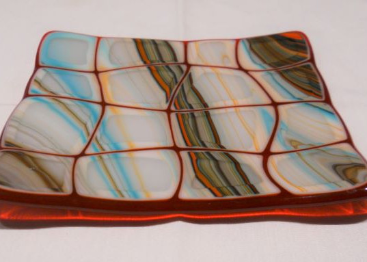 Item #016 Fused glass plate