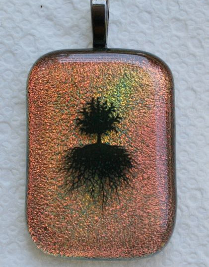 Item #006 Fused glass pendant