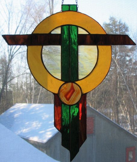 Item#003 Stained glass dream catcher