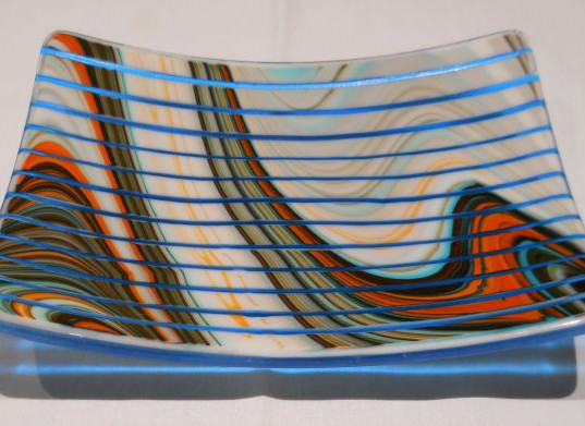 Item #005 Fused glass platter