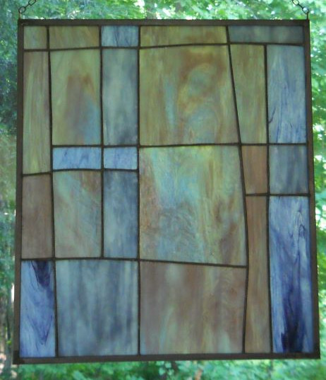 Item #035 Stained glass window panel