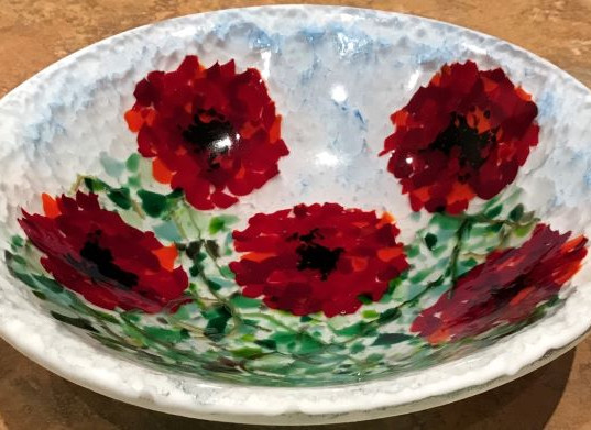 Item #012 Fused glass bowl