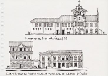 Igreja e Convento da Luz, Casa n° 1, Beco do Pinto e Solar da Marquesa de Santos, São Paulo, SP. 2006
