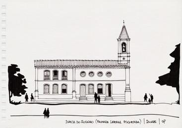 Igreja do Rosário (fachada lateral esquerda), Iguape, SP. 2012