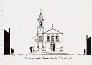 Igreja do Rosário (fachada principal), Iguape, SP. 2012