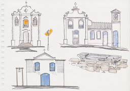 Igreja de N. Senhora da Boa Morte, Igreja de N. Senhora da Abadia e Igreja de Santa Bárbara, Goiás, GO. 2002