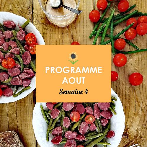 Programme Août - Semaine 4