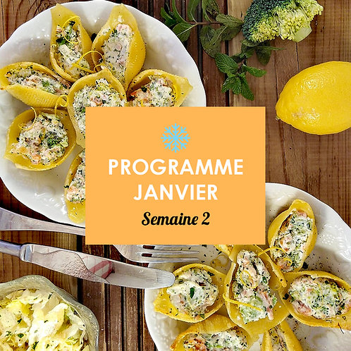 Programme Janvier - Semaine 2