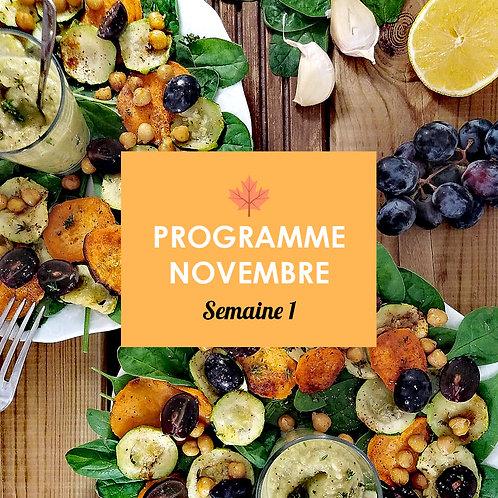 Programme Novembre - Semaine 1