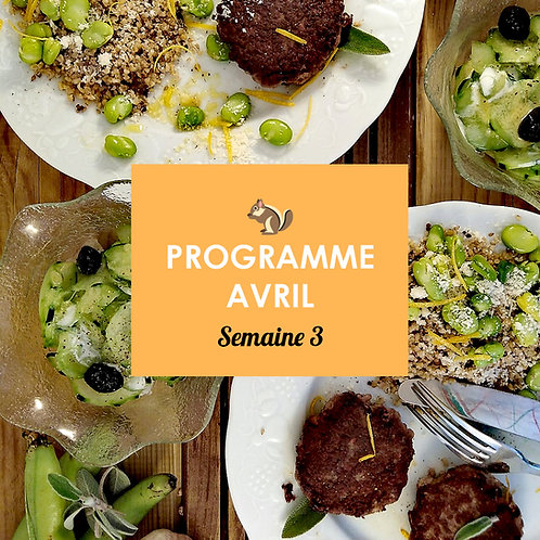 Programme Avril - Semaine 3