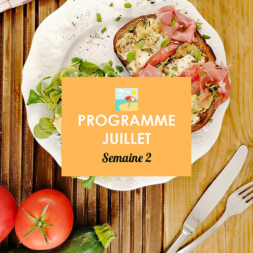 Programme Juillet - Semaine 2