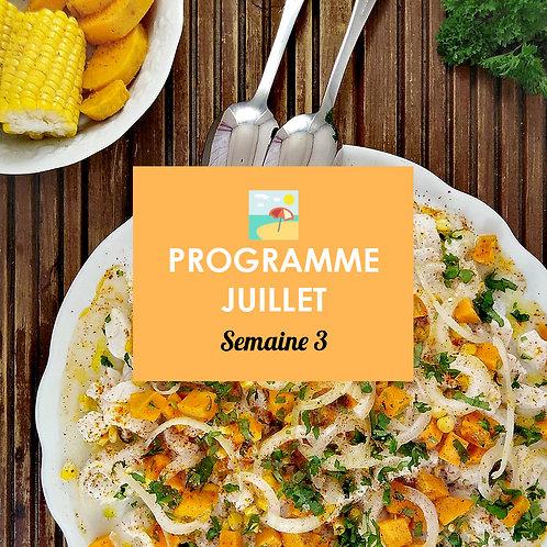 Programme Juillet - Semaine 3