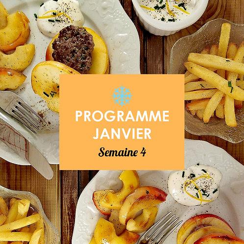Programme Janvier - Semaine 4