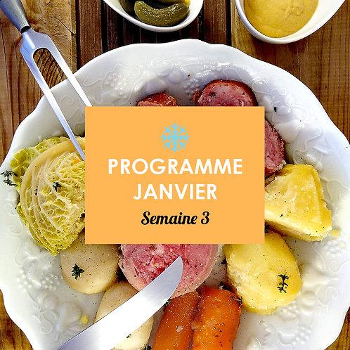 Programme Janvier - Semaine 3