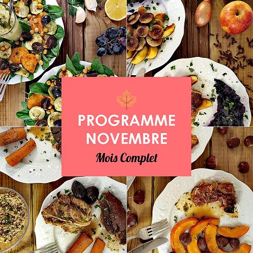 Programme Complet Novembre