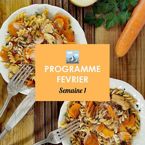 Programme Février - Semaine 1