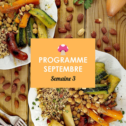 Programme Septembre - Semaine 3