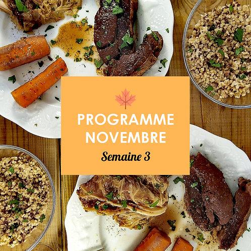 Programme Novembre - Semaine 3