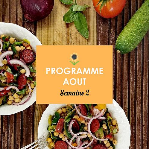 Programme Août - Semaine 2