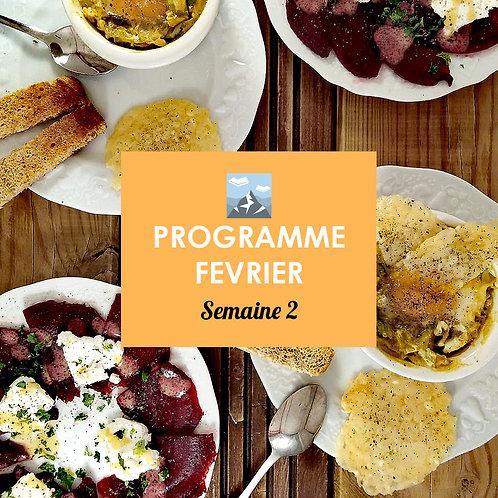 Programme Février - Semaine 2