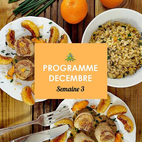 Programme Décembre - Semaine 3