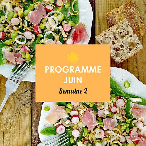 Programme Juin - Semaine 2