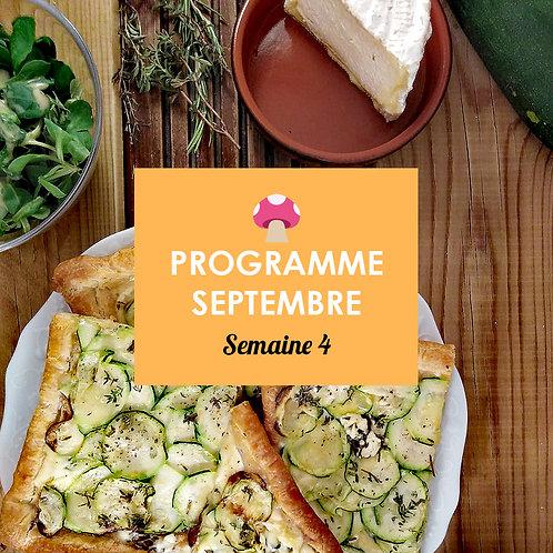 Programme Septembre - Semaine 4