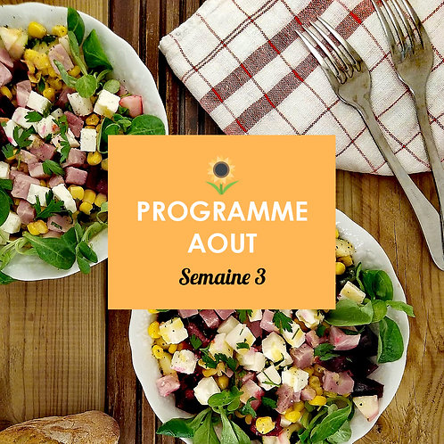 Programme Août - Semaine 3