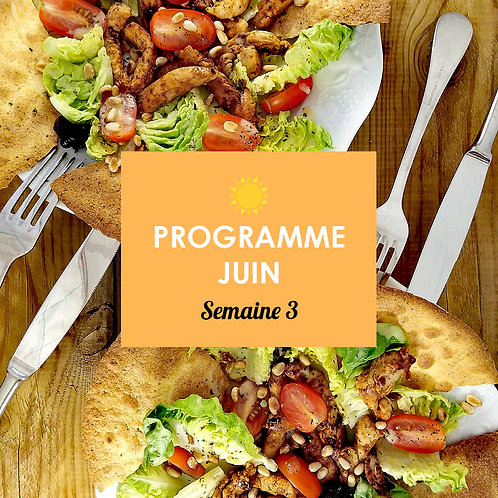 Programme Juin - Semaine 3
