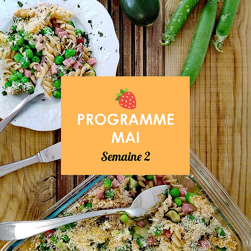 Programme Mai - Semaine 2