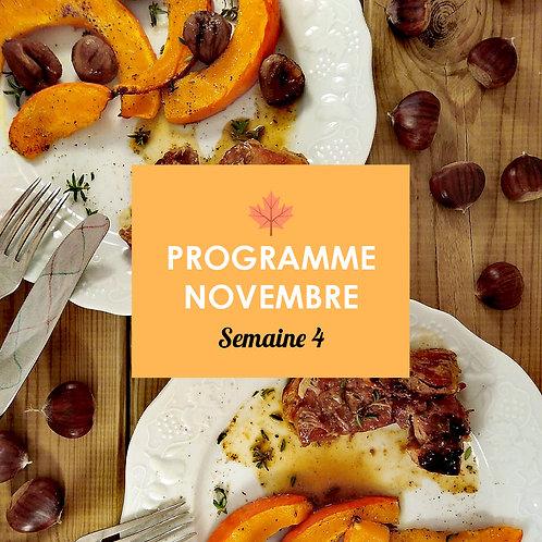 Programme Novembre - Semaine 4