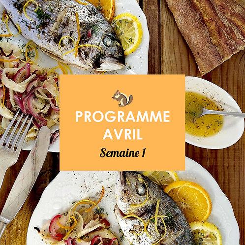 Programme Avril - Semaine 1