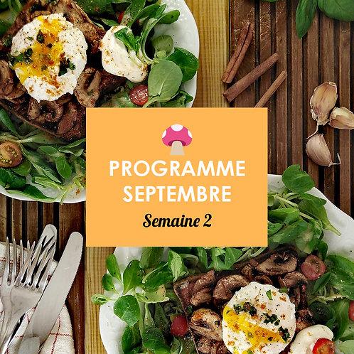 Programme Septembre - Semaine 2