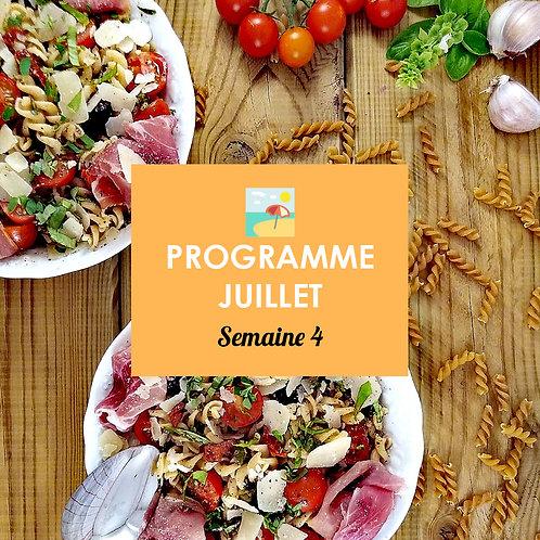 Programme Juillet - Semaine 4