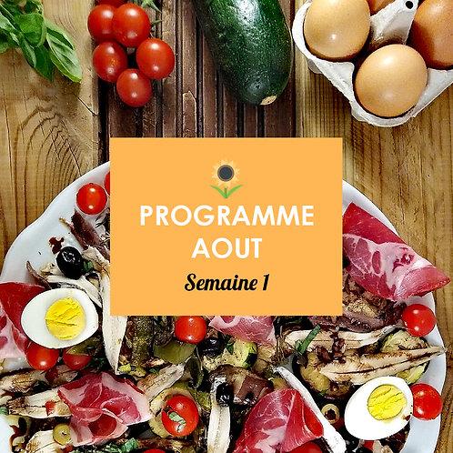 Programme Août - Semaine 1