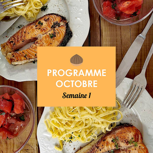 Programme Octobre - Semaine 1