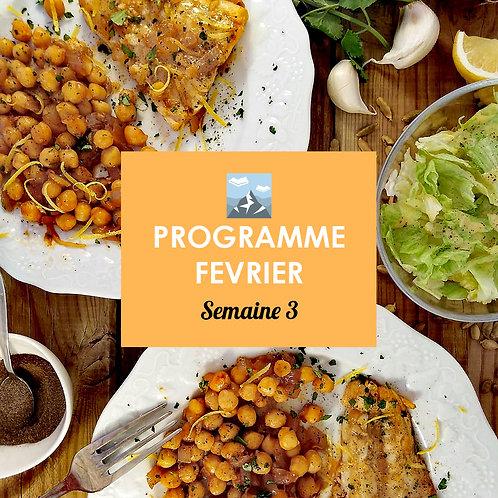 Programme Février - Semaine 3