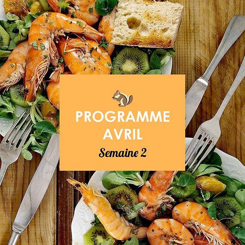 Programme Avril - Semaine 2