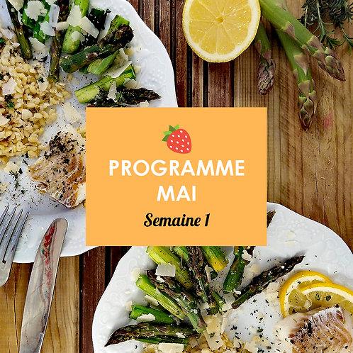 Programme Mai - Semaine 1