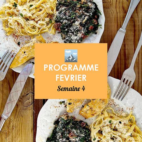 Programme Février - Semaine 4