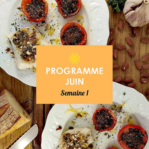 Programme Juin - Semaine 1